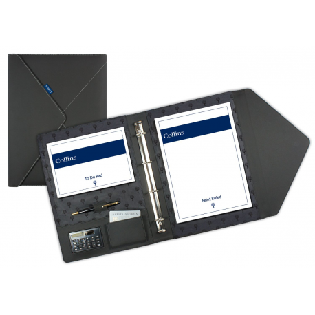 Collins A4 Conference Presentation Folder Document Portfolio Ring Binder Zip