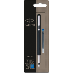 Parker Vector Stainless Steel Fountain Ink Pen Black