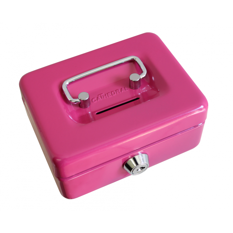 Small key lockable 4 petty cash money safe box tin with for Mini tin mailboxes for crafts