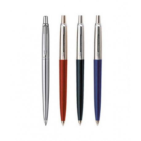 Parker Jotter Ballpoint Ball Pen Stainless Steel Red + Blue + Black Packs