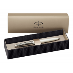 Parker Jotter Ballpoint Ball Pen Stainless Steel White with Gift Box