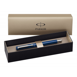 Parker Vector Stainless Steel Fountain Ink Pen Blue with Gift Box