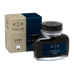 Parker Quink Ink Bottle 57ml Permanent Black Blue S0037490