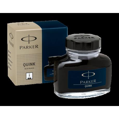 Parker Quink Ink Bottle 57ml Permanent Black Blue S0037490