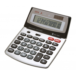 Handheld Digital Large Tax Calculator 12 Digit Desktop Desk Dual Powered Lcd