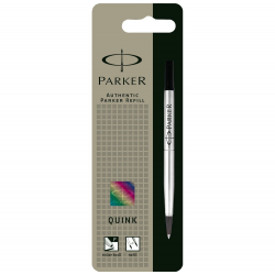 Parker Quink Rollerball Pen Refill Medium Black