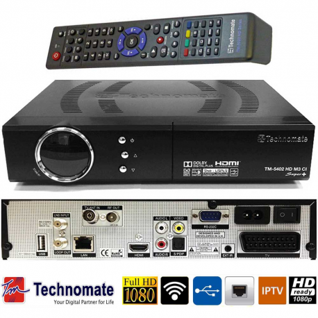 Technomate TM 5402 M3 Digital HD Satellite Receiver Set Top Recorder Box
