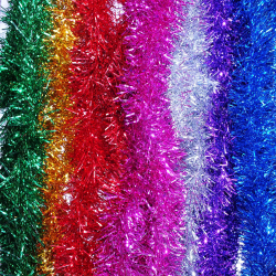 Chunky 2m Christmas Xmas Tinsel Decoration