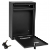 Large Black Wall Mounted Post Letter Mail Box Outdoor for Houses Offices