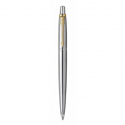 Parker Gold Clip (GT) Stainless Steel Jotter Ballpoint Ball Pen S0881891