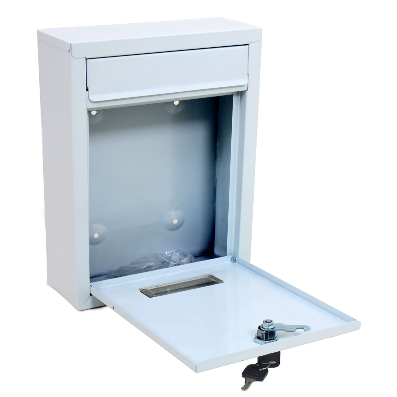 White Wall Mounted Post Letter Mail Box