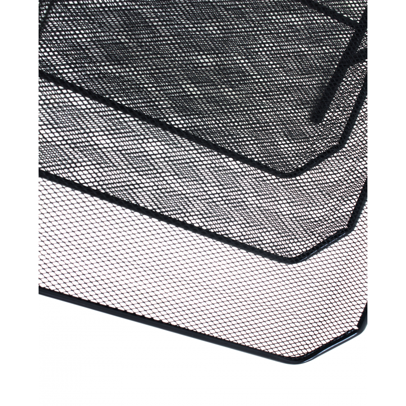 Stackable Metal Office Letter Filing Trays Mesh 3 Tier
