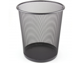 Metal Mesh Waste Paper Rubbish Bin Wire Black for Office, Bedroom