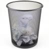 Metal Mesh Waste Paper Rubbish Bin Wire Black for Office, Bedroom