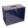 Cathedral A4 Metal File & Document Storage Box, Blue