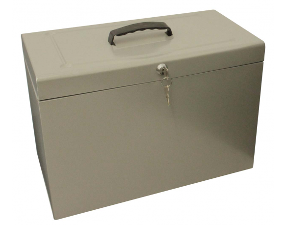 Cathedral Foolscap File Holder Box, Grey HOGY