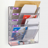 Wall Mounted Magazine Rack Holder for File, Document, Newspaper Storage